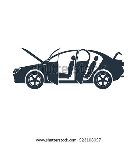 open car  crash roadside