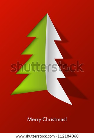 Open Christmas - paper Xmas tree