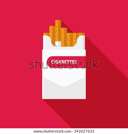 open cigarettes pack box flat