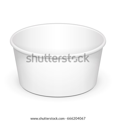 open cup tub food plastic