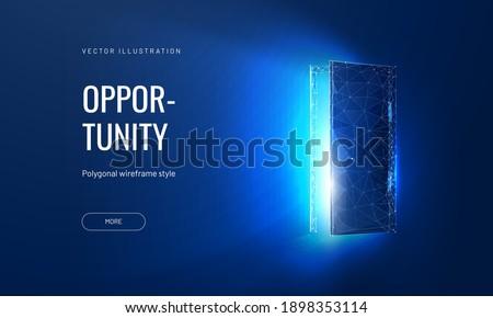 open door digital vector
