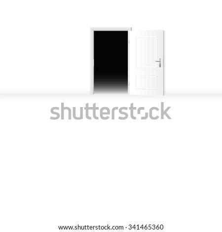 Open Door Dark Room open door from a bright room to a dark room. vector illustration