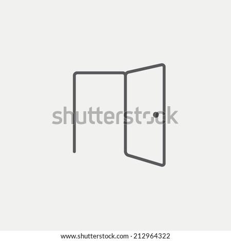 Open Door Icon Vector Open Door Icon Stock Vector