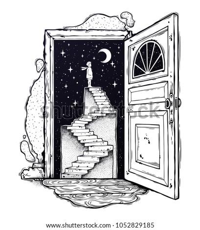 open door into a dream....
