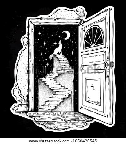 open door into a dream
