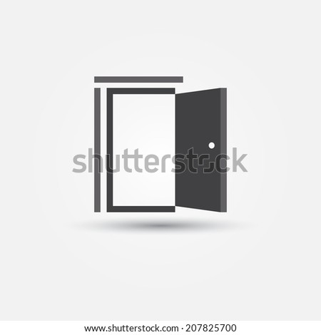 Open Door Icon Vector Open Door Simple Vector