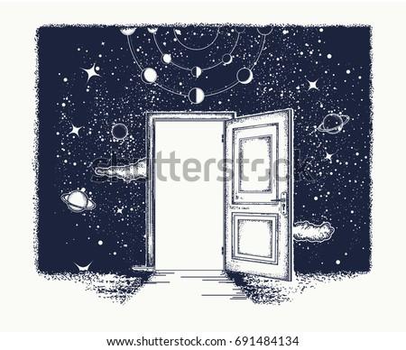 open door tattoo symbol of