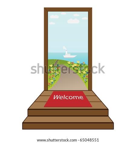 open door welcome Open door to a beautiful