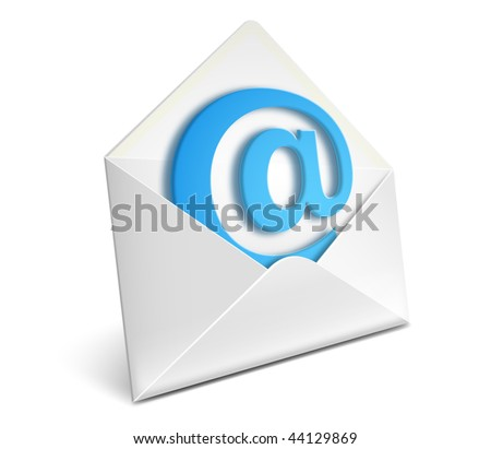 Open envelope with e-mail sign vector icon - EPS 10