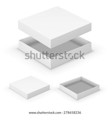 open flat boxes design...