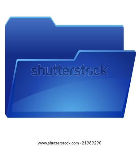 open folder - stock vector
