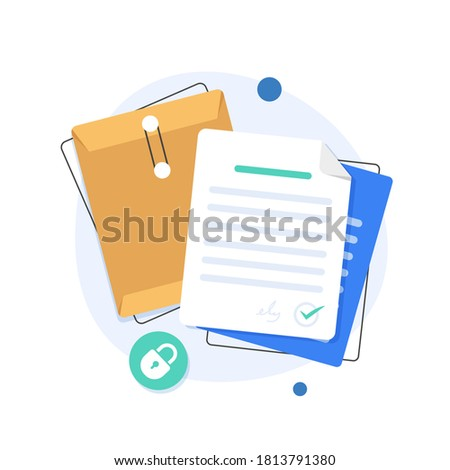 open folder icon,Folder with documents,Document protection concept,flat design icon vector illustration stock photo
