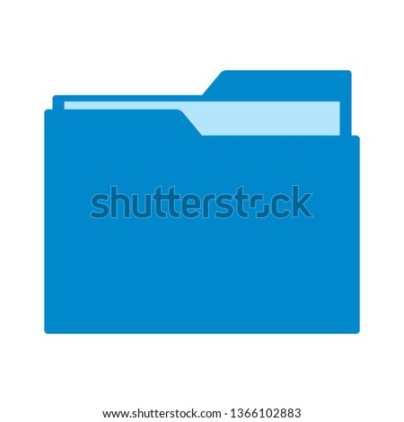 open folder icon. Open folder with documents. Folder icon isolated on white background