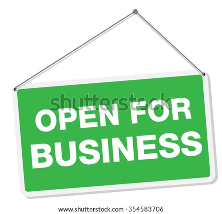 Open For Business Sign Tag