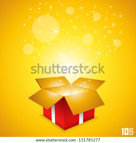 open gift  gift box background