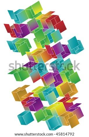 open gradient cube page design