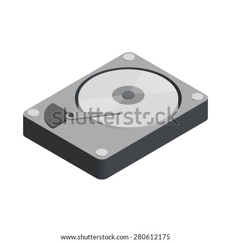 open hard disk drive isometric