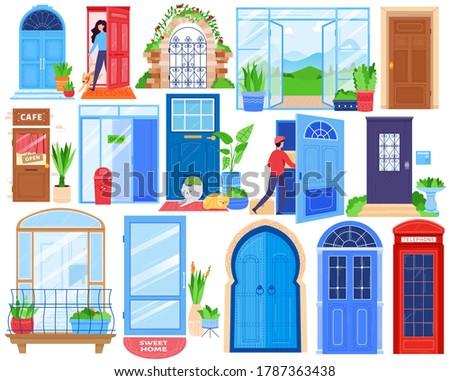 open house doors  front