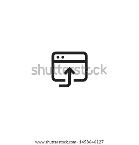 Open in browser icon. Browser vector icon for web and mobile