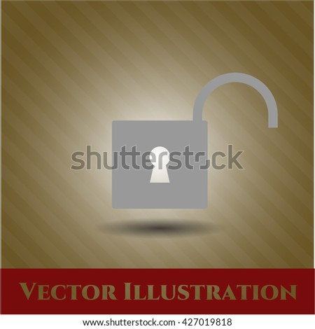 open lock icon vector symbol flat eps jpg app web concept