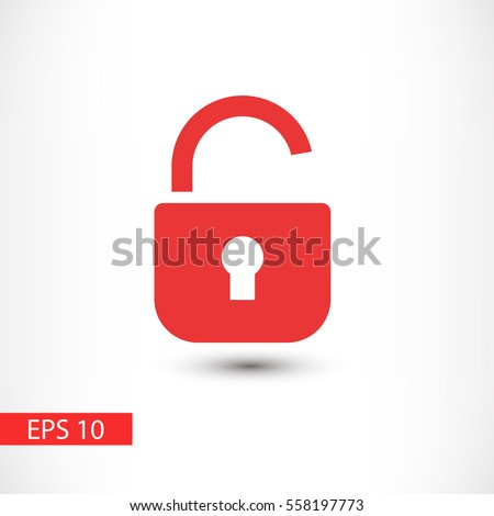Open lock vector icon