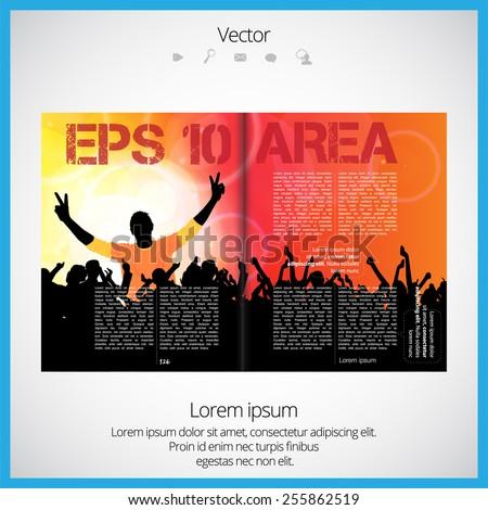 Open Magazine, Vector Illustration. - 255862519 : Shutterstock