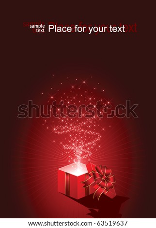 Open magic Gift box, illustration