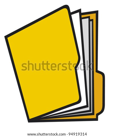 open manila folder with paper