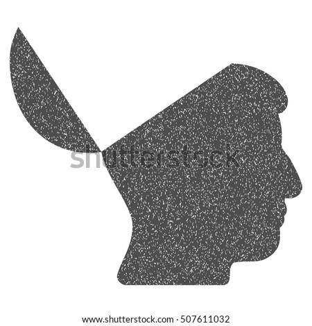 open mind grainy textured icon
