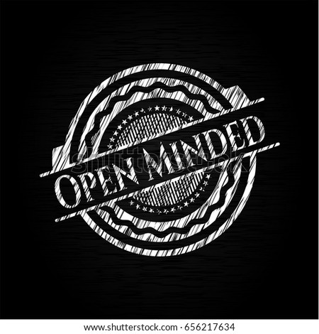 open minded with chalkboard