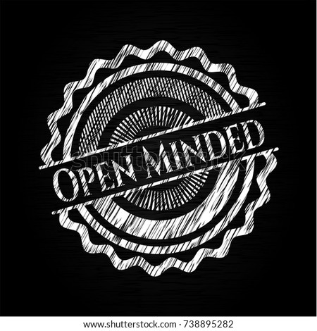 open minded written on a
