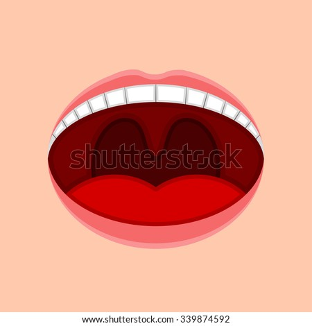 open mouth   vector illustration