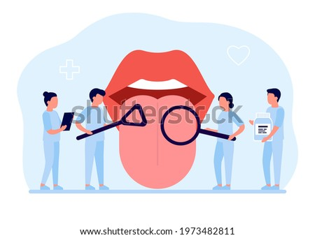 open mouth with protruding