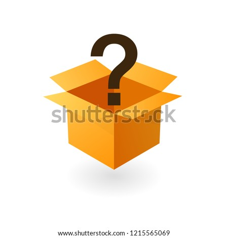 Open mystery box icon. Clipart image isolated on white background