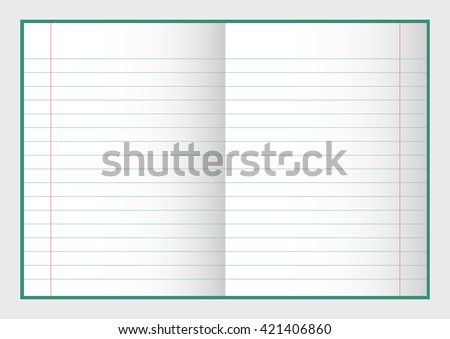 open notebook with pages