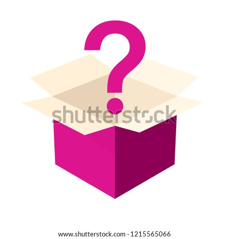 Open pink mystery box icon. Clipart image isolated on white background