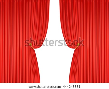 Curtains Ideas curtains background : Open Red Curtains Background. Vector Illustration - 444248881 ...