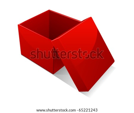 Open red gift box