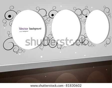 open round window shining on the floor vector illustration