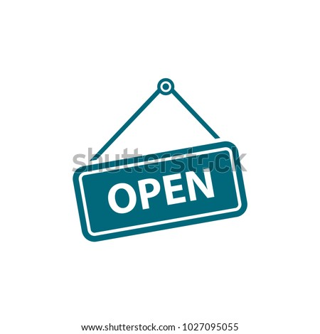 open sign icon in trendy flat style