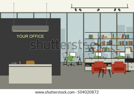open space office illustration