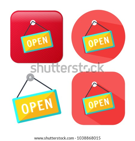 open store sign - shop icon