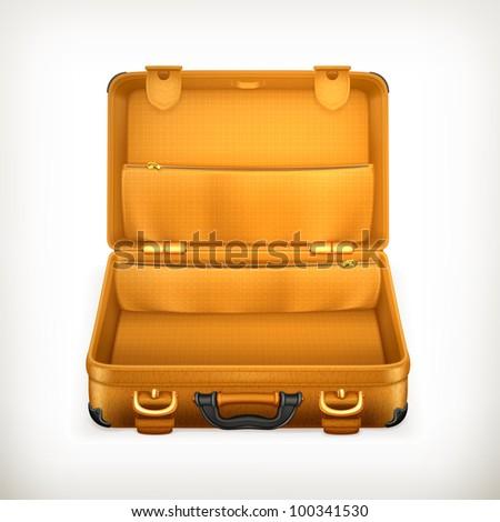 Open Briefcase Vector Open Suitcase Vector
