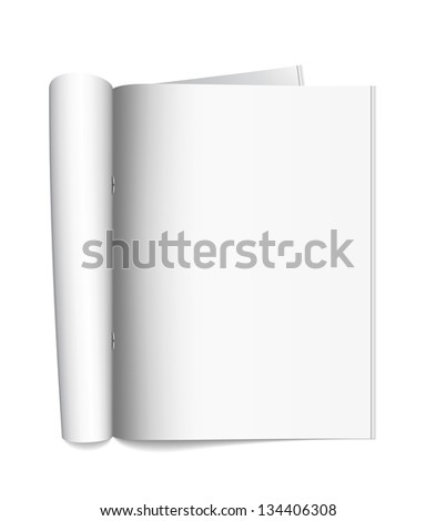 Open the paper journal. Vector illustration.
