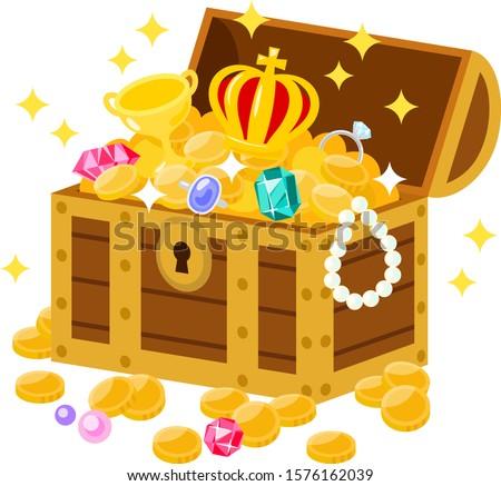 Open treasure box filled with treasures Сток-фото ©
