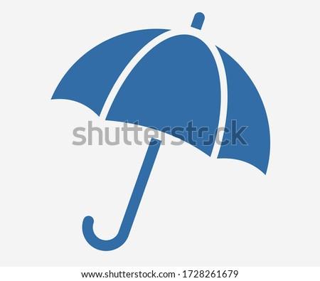 Open umbrella icon. Vector umbrella isolated. Illustration umbrella icon for mobile apps. Pictogram for web. Minimalist style icon umbrella. Business concept icon
