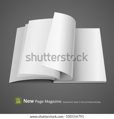 Open white page magazine. vector illustration