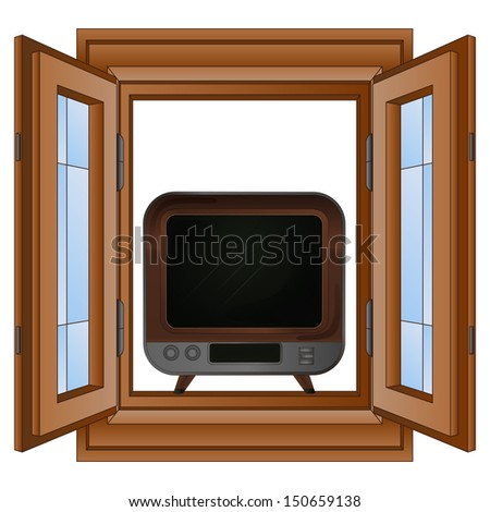 open window to television
