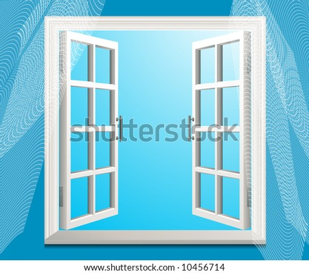 Open window, vector illustration, EPS file included