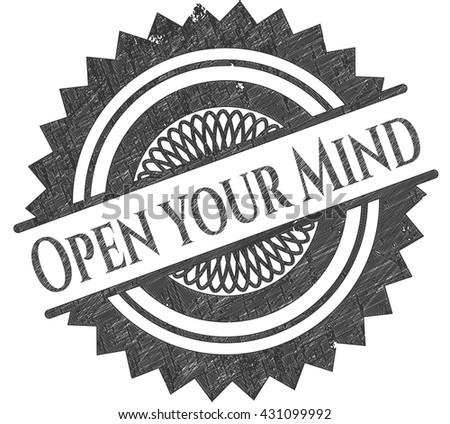 Open your Mind draw with pencil effect